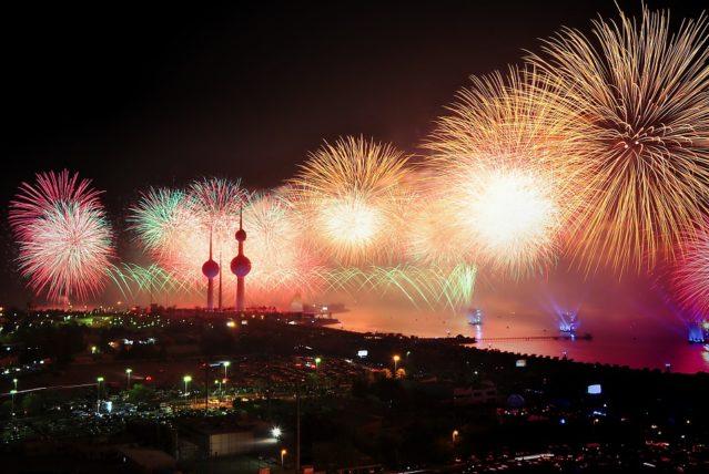 クウェートの夜景