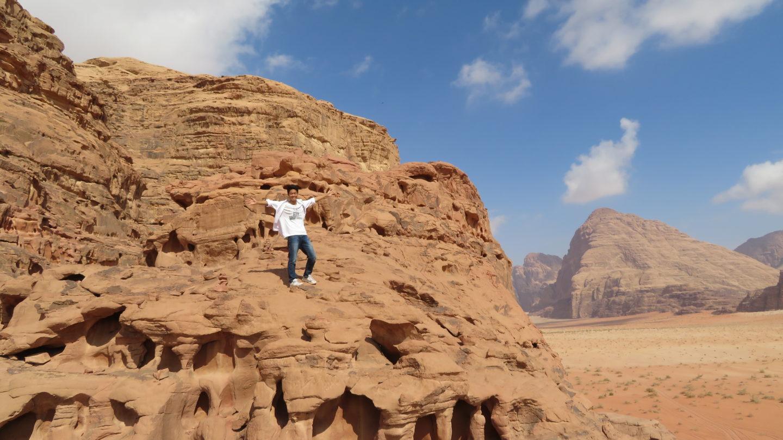 ワディラムの変な岩山
