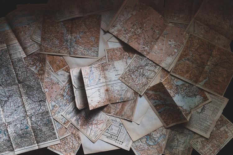 地図 散乱