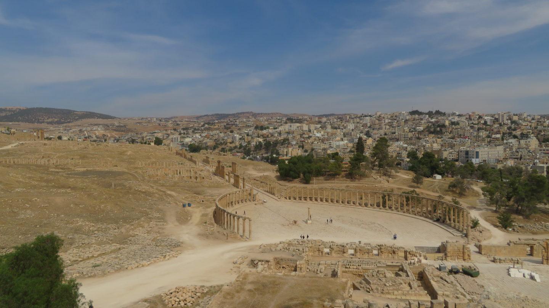 ジェラシュ遺跡を上から見た