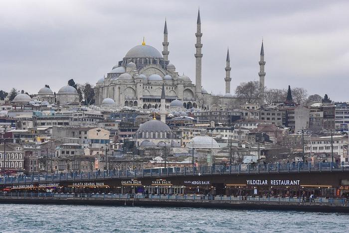 スレイマニエとイスタンブールの街並み