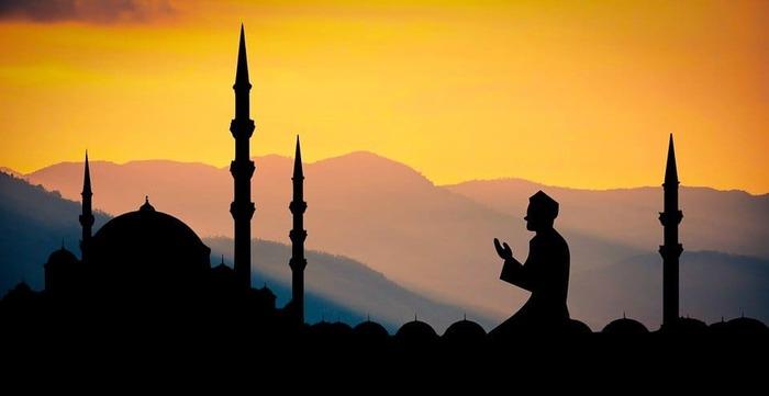 夕陽とムスリム